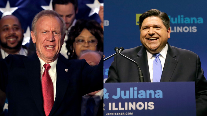 PRITZKER LEADS RAUNER BY 11 POINTS IN LATEST ILLINOIS POLL    (Pritzker's lead down from 15 points s