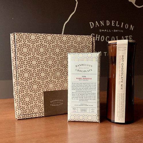 【Dandelion Chocolate】【ギフトセット】ホットチョレートミックス&ワンプゥ, ホンジュラス 70%