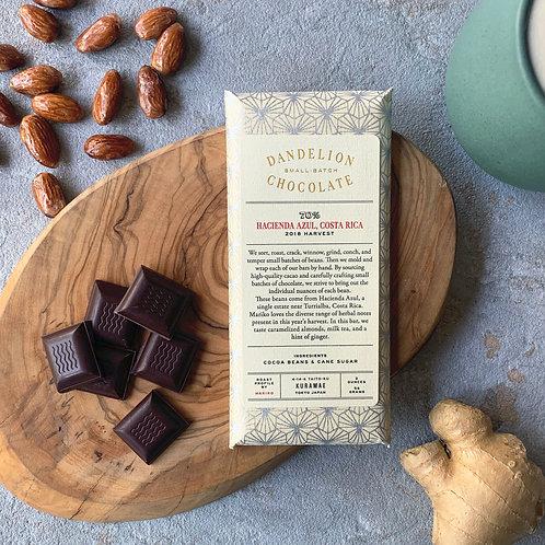 【Dandelion Chocolate】ハシエンダ・アズール、コスタリカ70%