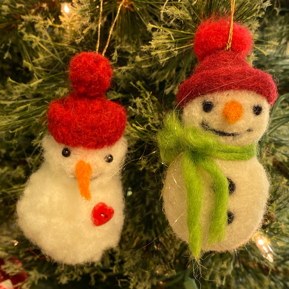 paper hat parade felted snowmen