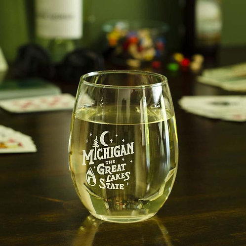 Great Lakes State Wine Glass