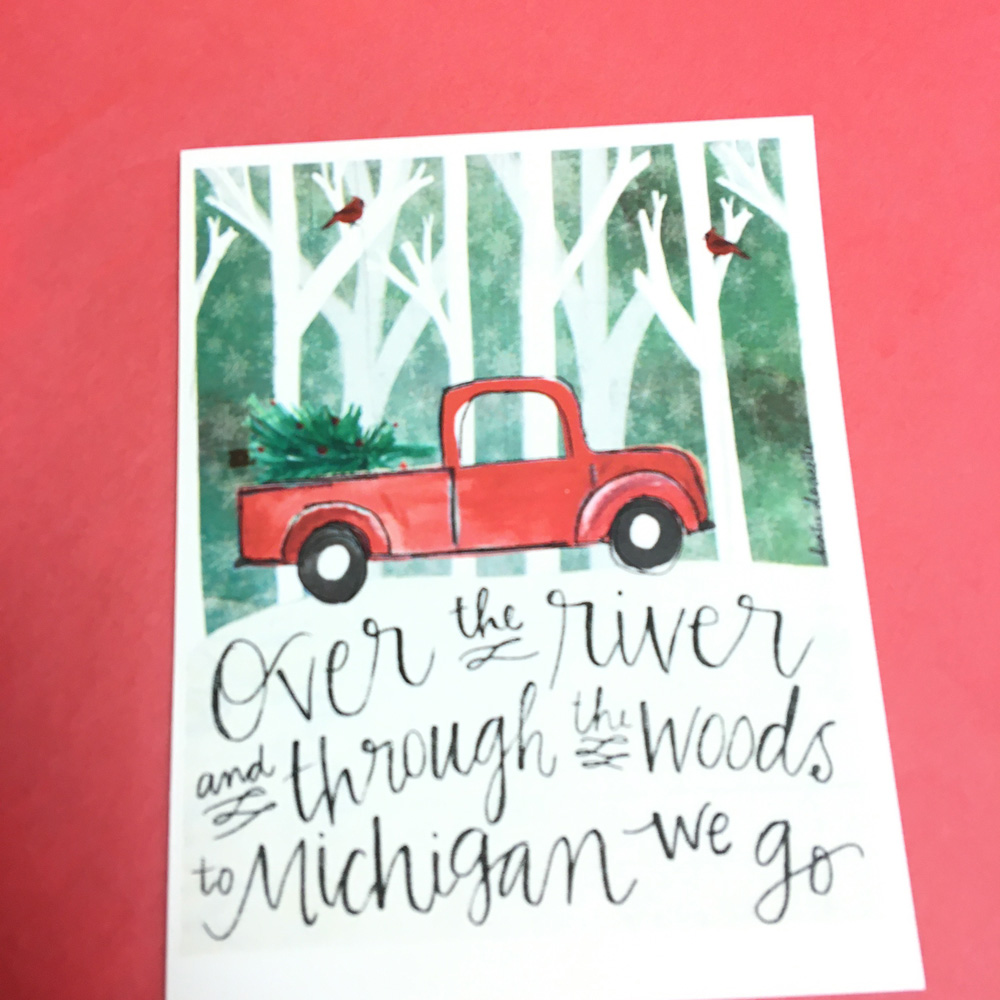 over the river card