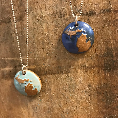 Ceramic Michigan Pendant Necklaces