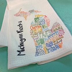 michigan rocks towel