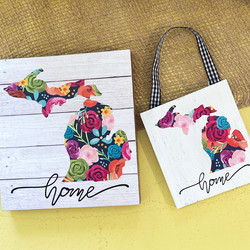 floral home signs