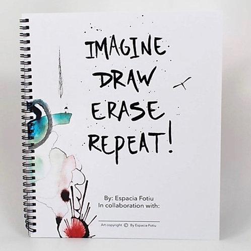 Imagine Draw Erase Repeat! Interactive coloring book.