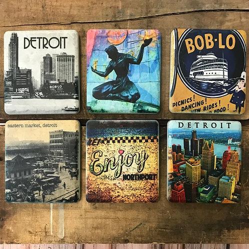 Detroit Ceramic Coasters