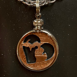 hand carved coin necklace