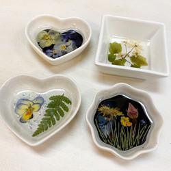 fabulous flower trinket dishes