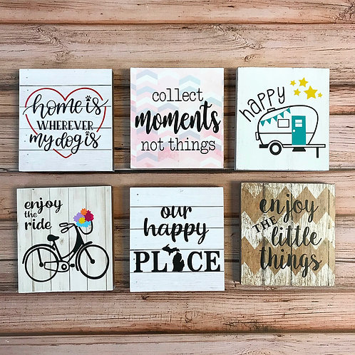 "Decorative 6x6"" Signs"