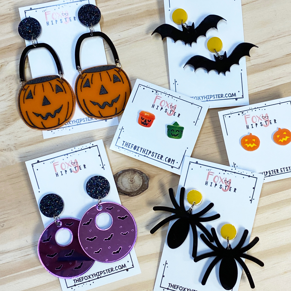 fun halloween earrings