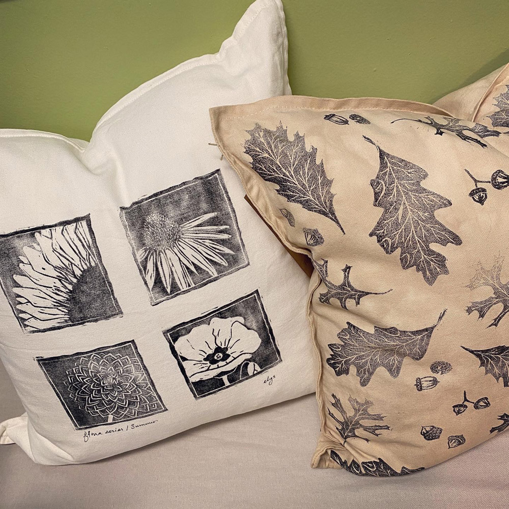 printed pillows