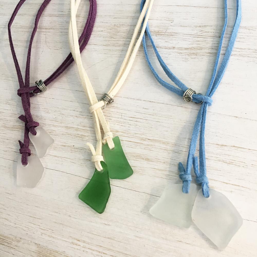 beach glass anklets