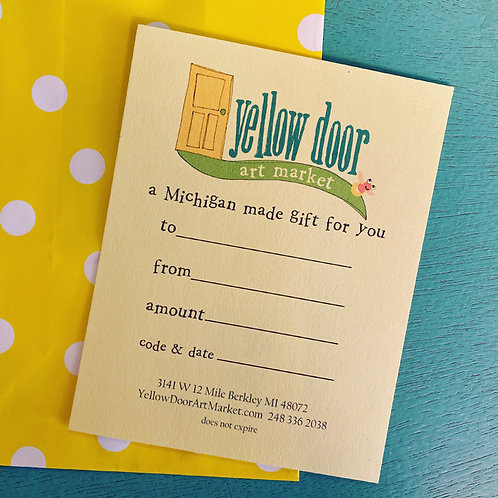 Yellow Door Gift Certificate