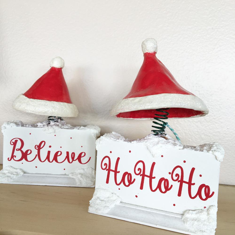 bouncy santa hats