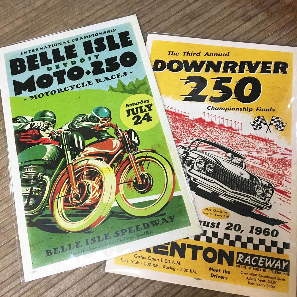 faux vintage posters