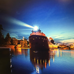 freighters at night