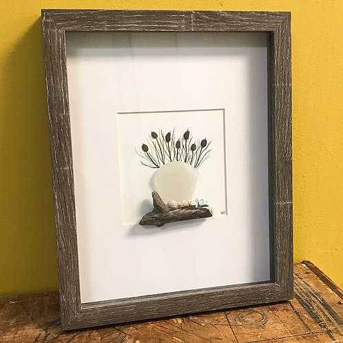Potted Plant Beach Glass 8x10