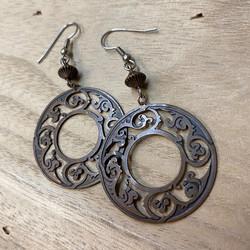 ornate stamped earrings