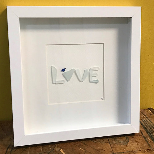 LOVE Beach Glass 8x8
