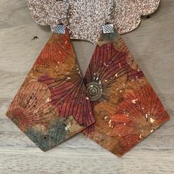 pretty printed earrings