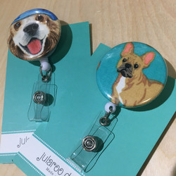 pretty pooch badge holders