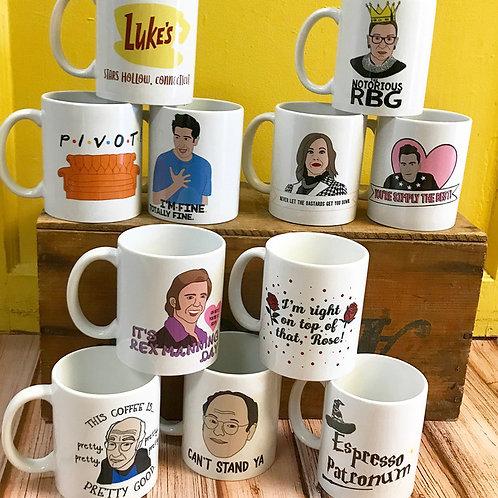 Foxy Hipster Printed Mugs