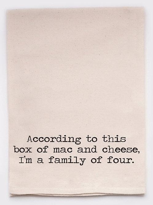 Funny Tea Towel - Mac and Cheese