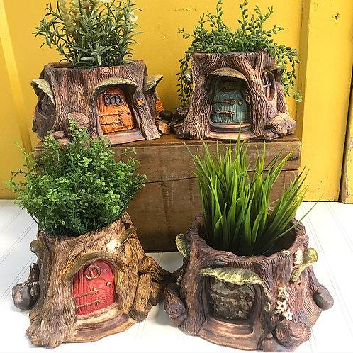 Ceramic Fairy House Planter