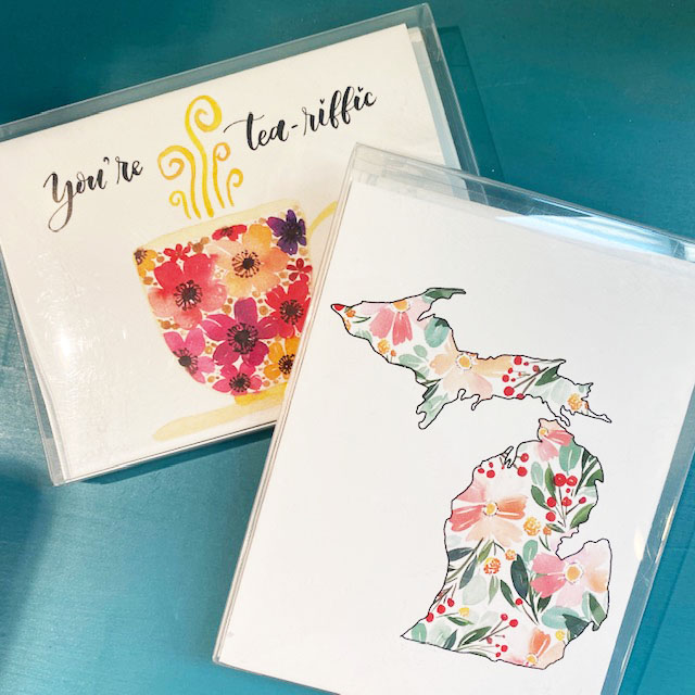 water color note cards
