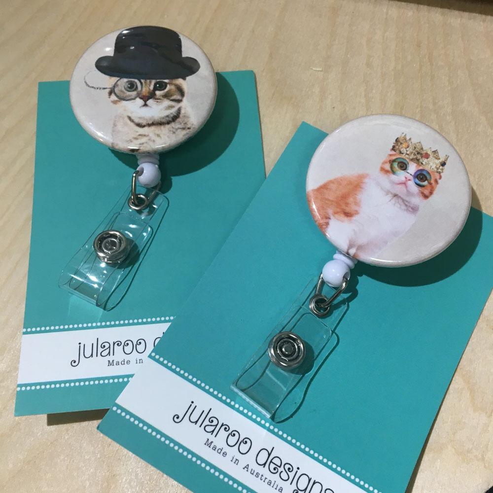 stylish kitty badge holders