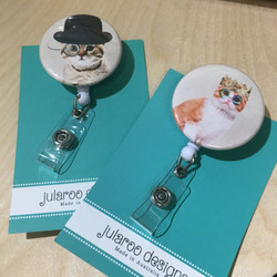 stylish kitty badge holders