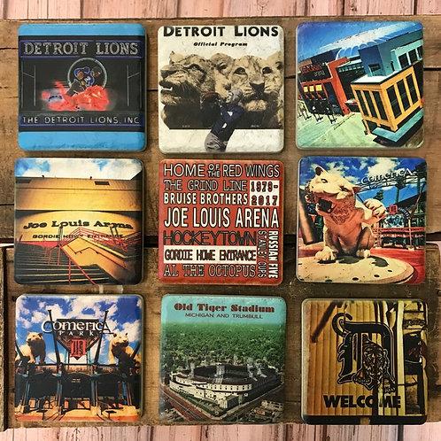 Detroit Sports Ceramic Coasters