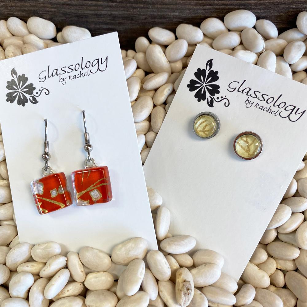 gorgeous glass earrings