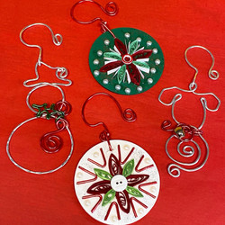 dancing wired ornaments