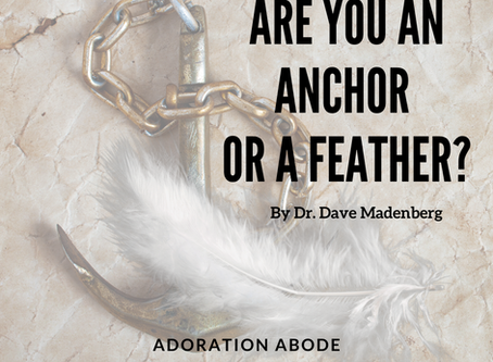 Are you an anchor or a feather? By Dr. Dave Madenberg