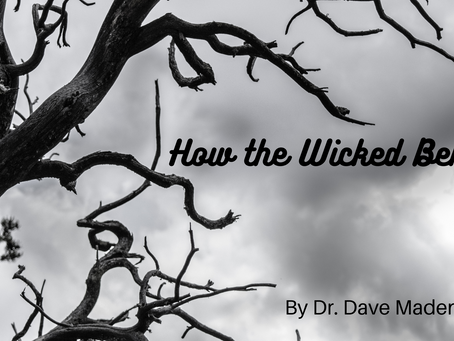 How the Wicked Behave. By Dr. Dave Madenberg