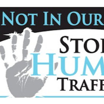 Not in Our Town Stop Human Trafficking Yard Sign