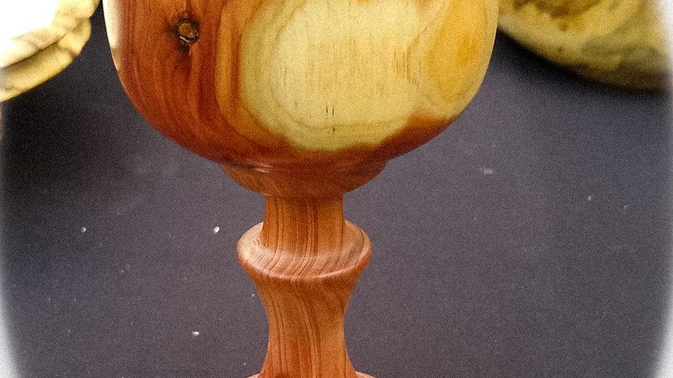 Purple Cedar Candle Holder