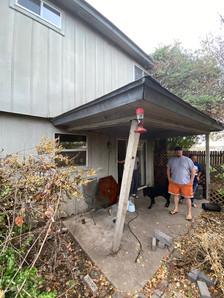 Backyard awning falling apart