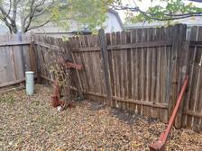 Fence falling apart