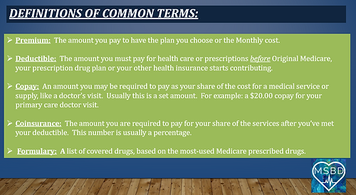 Common Medicare Definitions May 2021 3.P