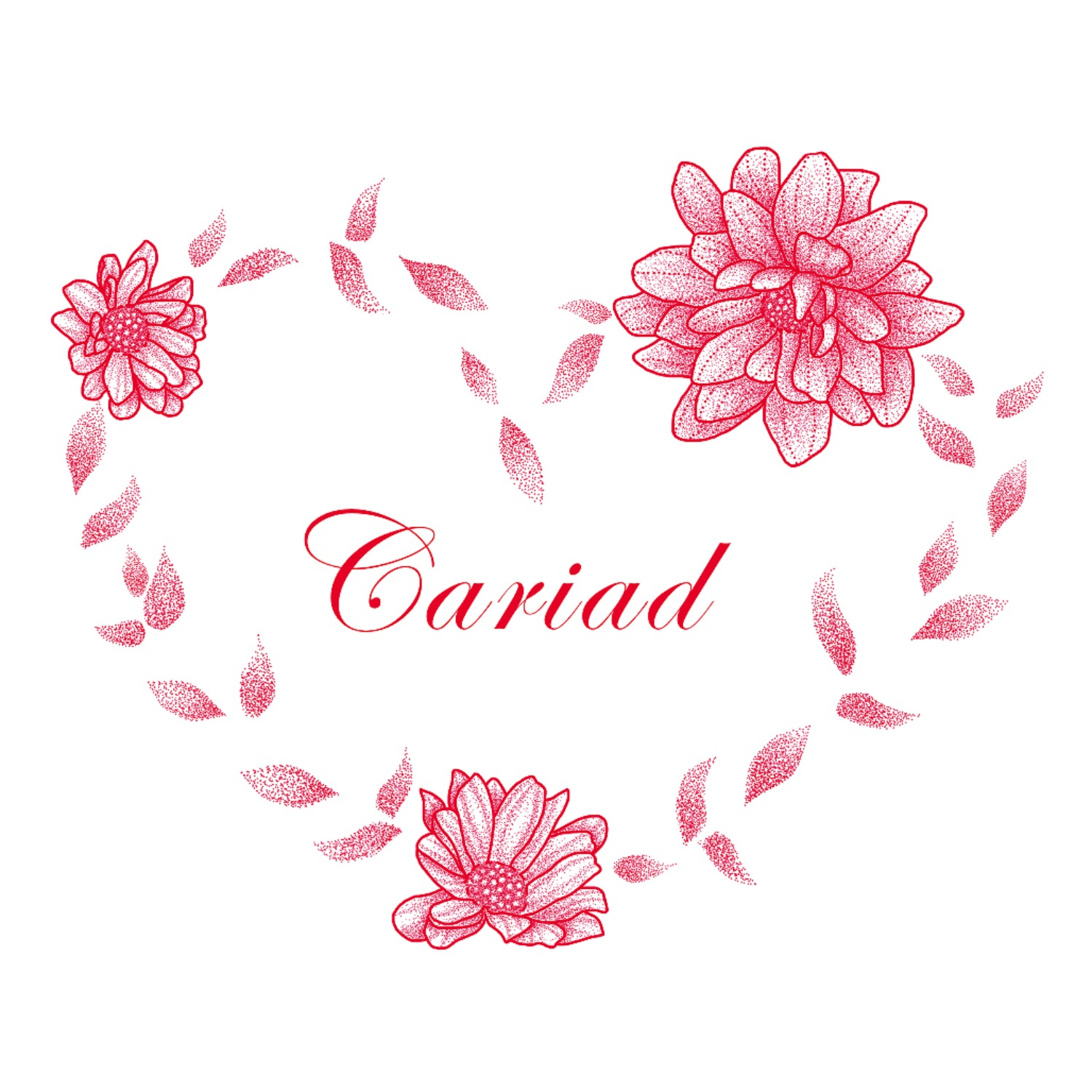 Red Floral Wreath