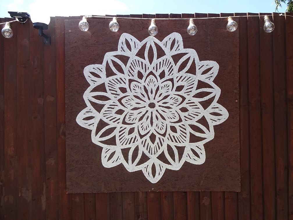 Silver Mandala Mural