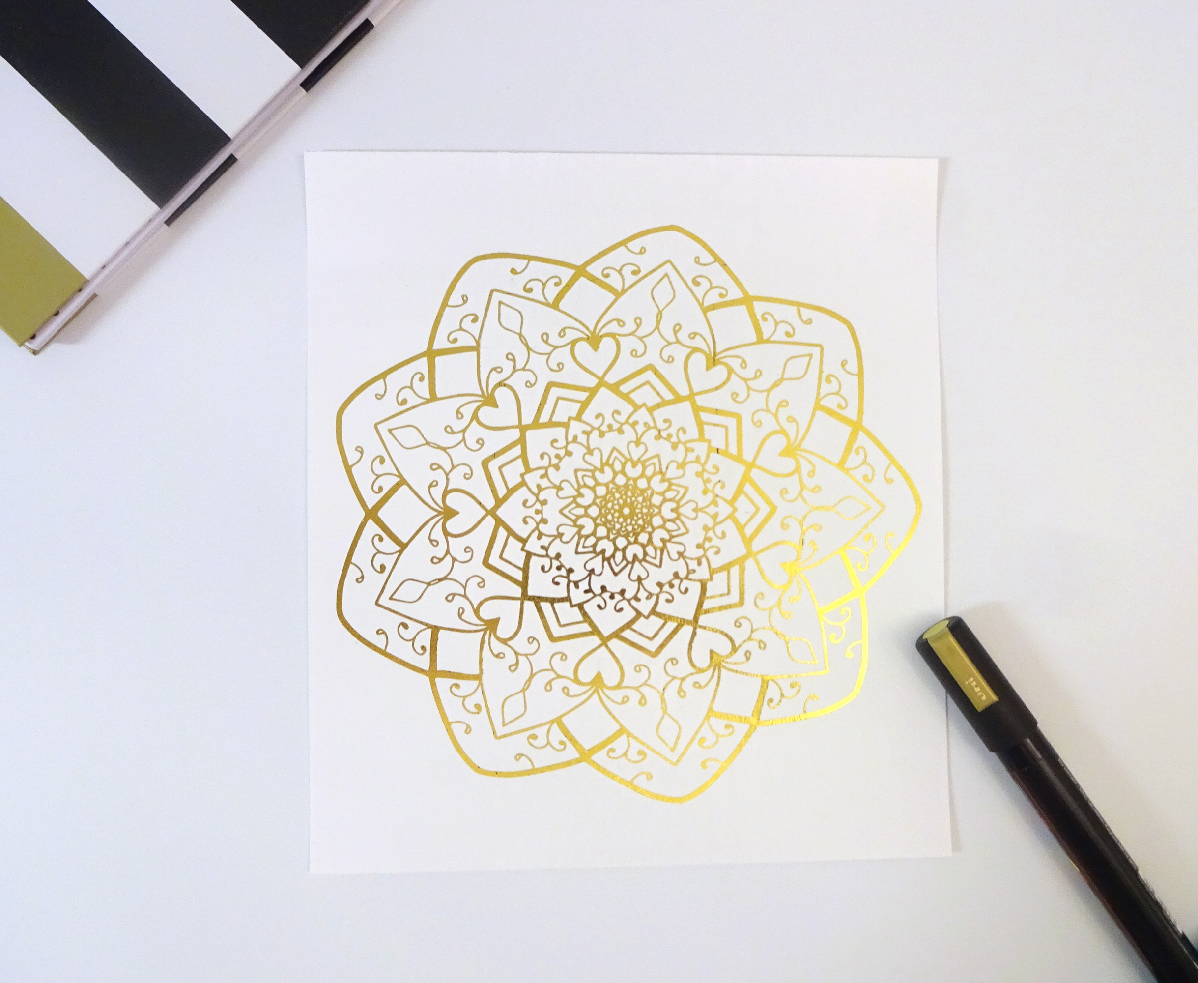 Gold Foiled Mandala