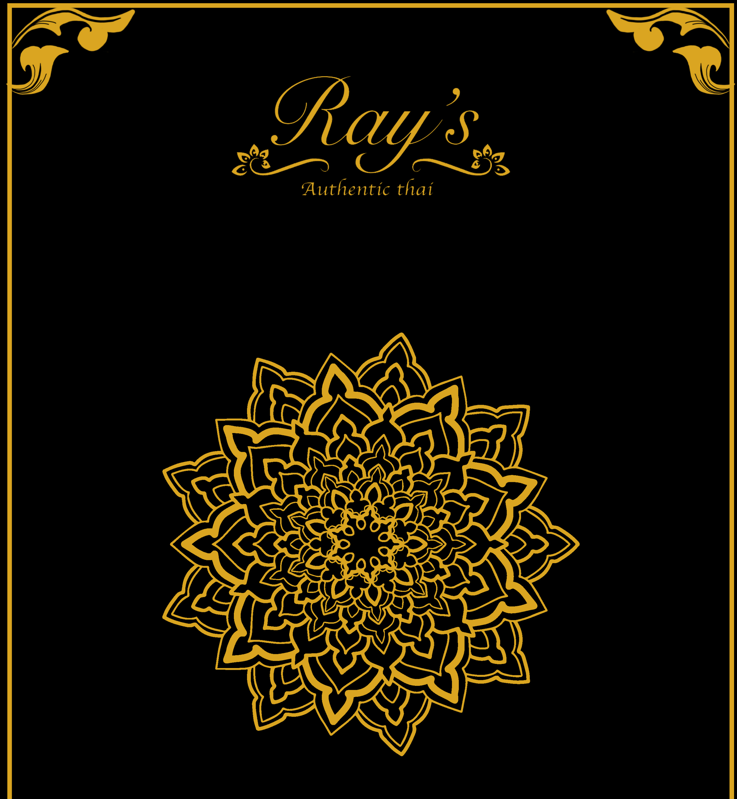 Ray's Authentic Thai Menu
