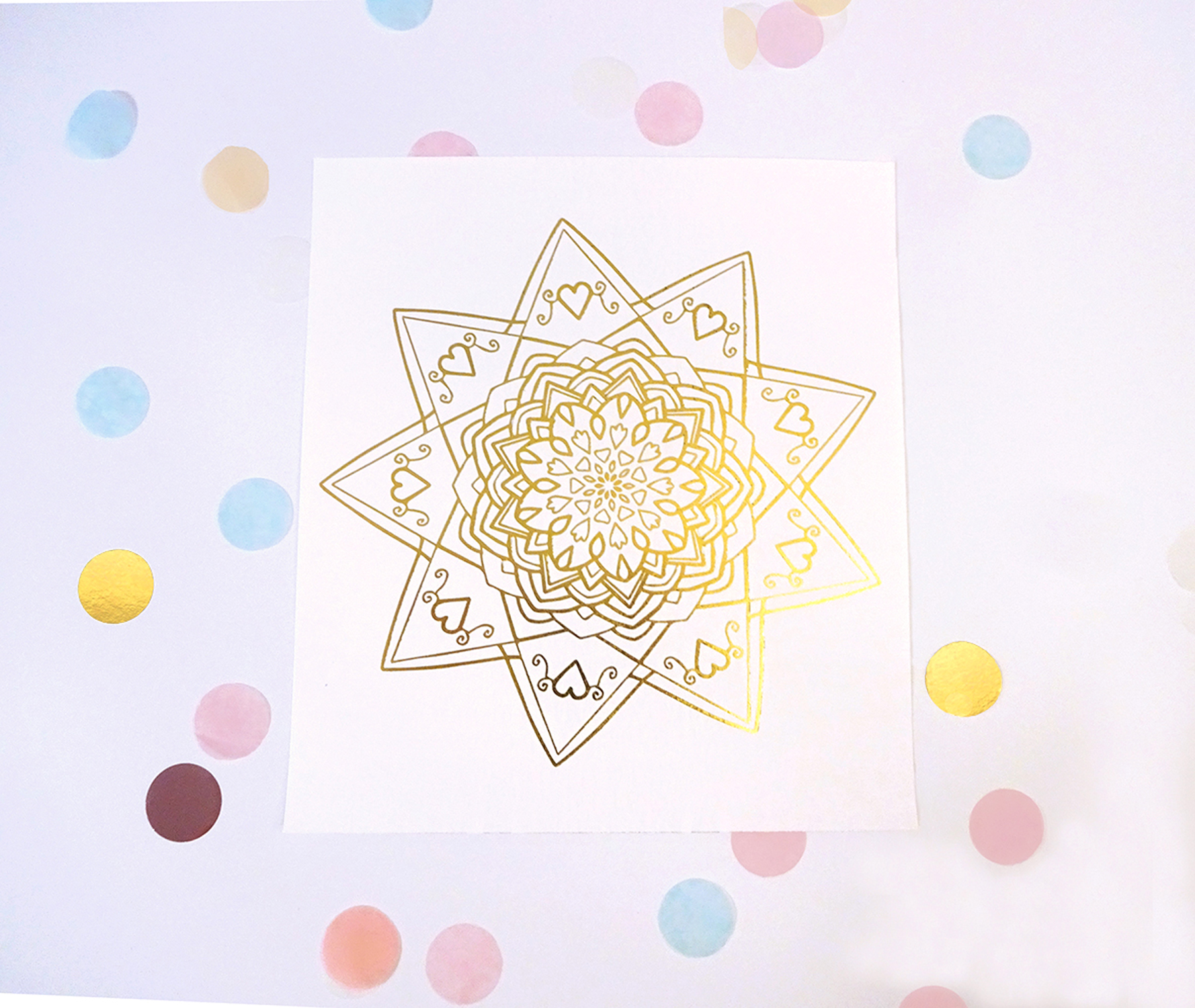 Valentine's Day Mandala Prints