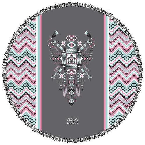 Roundie Towel Aztec Pink