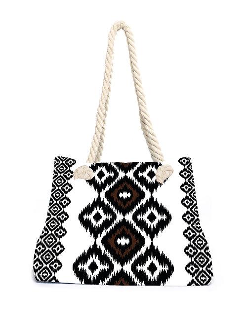 Beachbag Aztec Black