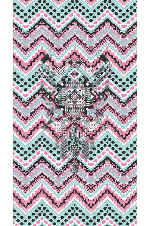 Beachtowel Aztec Pink